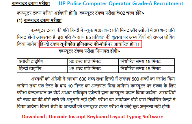 UP Police Computer Operator 2017 | UP Police Computer