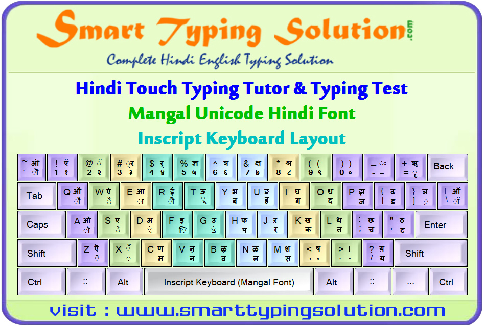 Hindi Typing Tutor Inscript Keyboard With Mangal Font